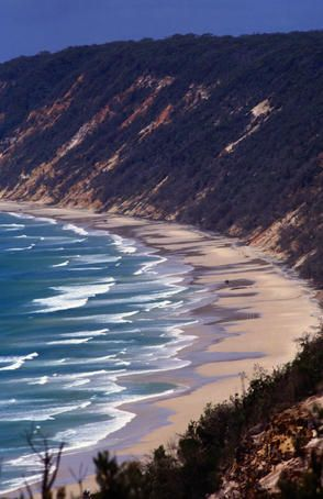 Rainbow Beach, Australia. Famous for its multicolored sand.
