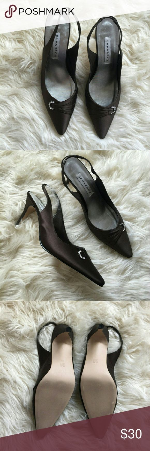 Caparros shoes Brand new, never worn, elegant caparros shoes. Colour is dark saten brown. Caparros Shoes Heels