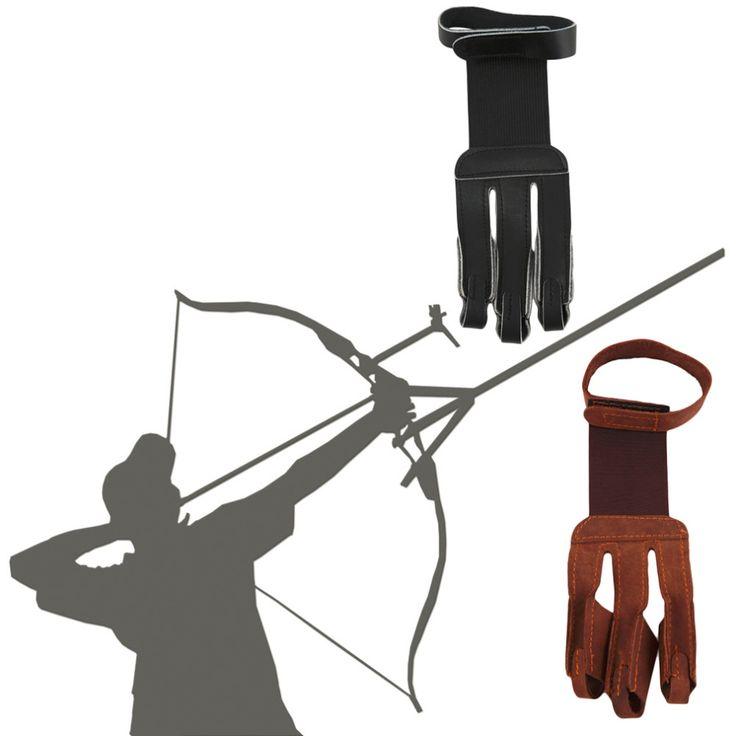 Tir à l'arc Protéger Gant 3 Doigts Pull Arc flèche En Cuir Gants de Tir livraison gratuite