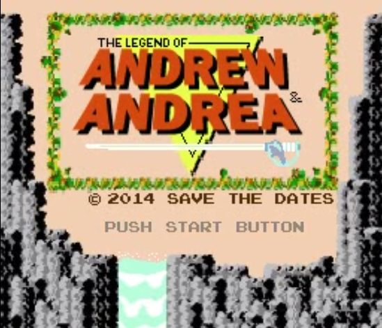 90s style save the date video... click through to watch: http://offbeatbride.com/save-the-date-8-bit-video