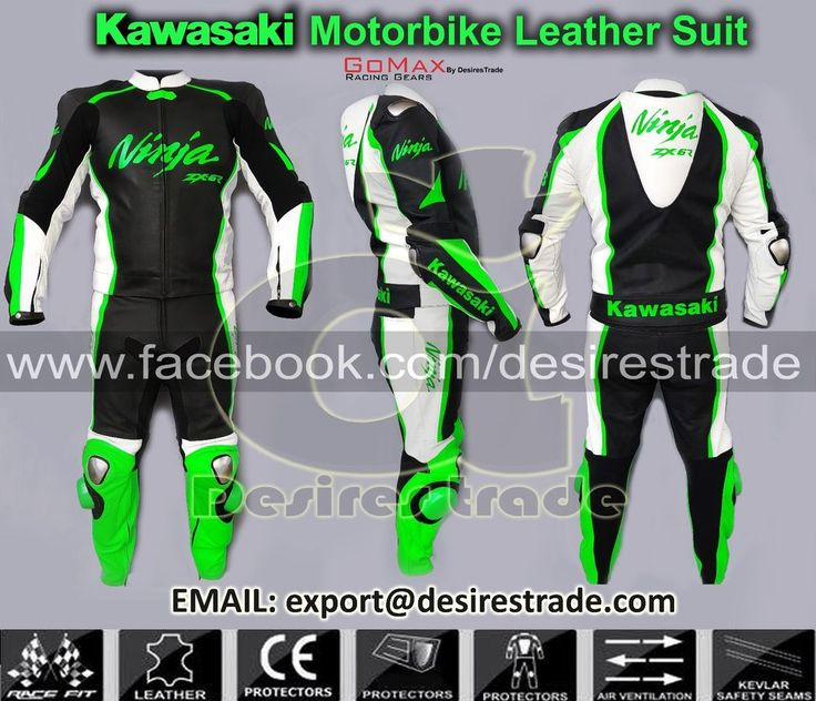 Kawasaki Motorbike Leather Suit 2 piece/1 piece zx6r zx12r  zx10r zx9r zx10r  in Vehicle Parts & Accessories, Clothing, Merchandise, Media, Motorcycle Clothing | eBay!