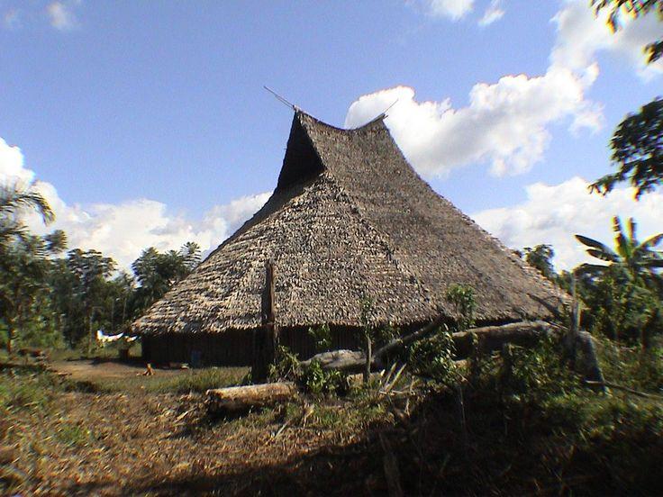 Maloca de Mario Matapi em La Pedrera, departamento de Amazonas, Colômbia…