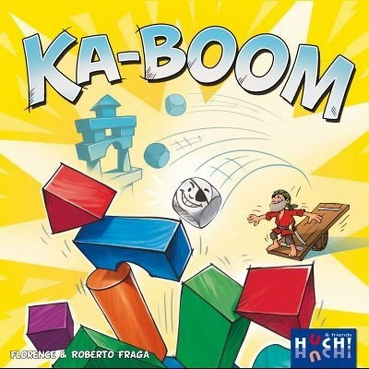 Gioco da Tavolo KA-BOOM Italiano di Società Famiglia Catapulte Torri Party Game