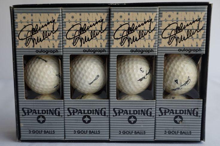 Complete Set Johnny Miller Autograph Spalding Golf Balls 1 2 3 4 Lot of 12 #Spalding