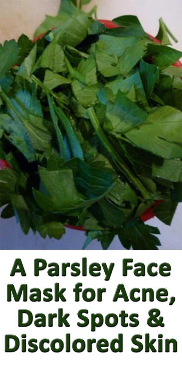 Here's how to make a parsley face mask for acne to reduce facial blemishes. Topical parsley can also reduce the appearance of dark spots and discolored skin