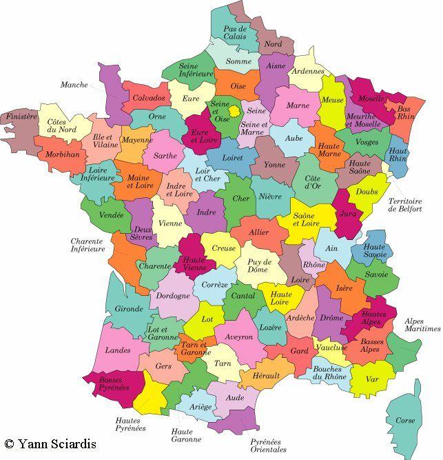France 1920 | Carte de france département, France et Carte de france