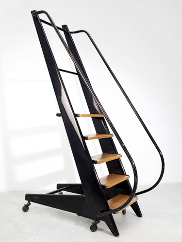 Jean Prouvé rolling step ladder, 1951