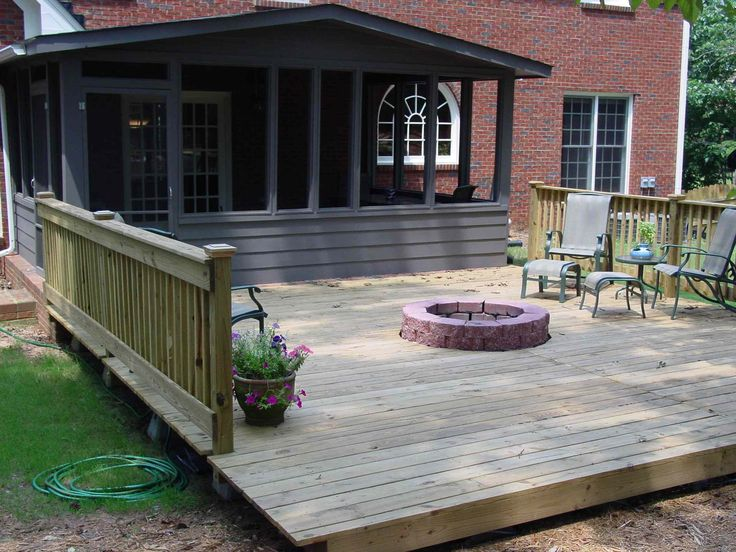 deck with fire pit | Quality Home Remodeling