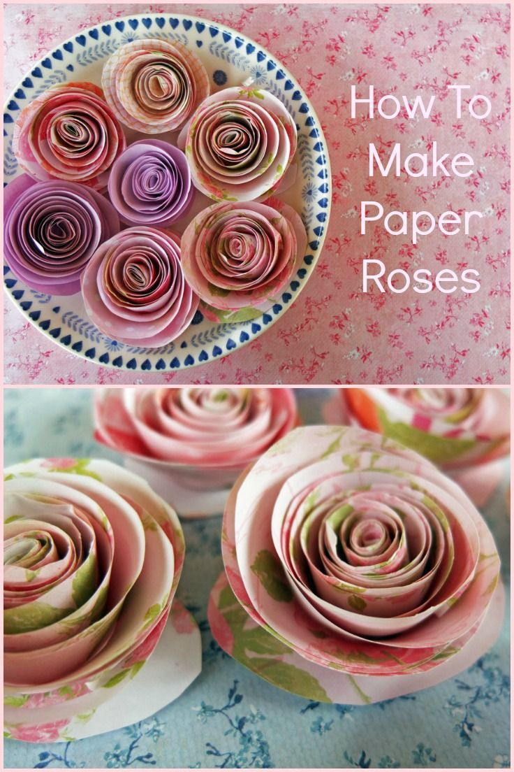 How to Make Paper Roses - A simple craft with beautiful results for Valentine's Day, Mother's Day, Birthdays or any day!