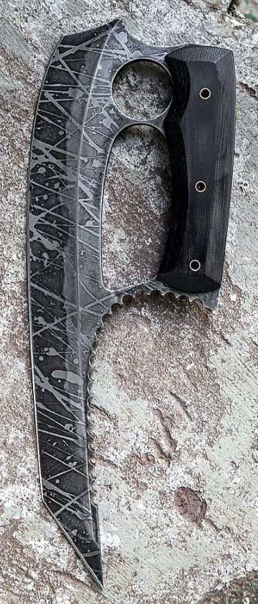 Havoc Works KERES Custom Knife Blade By Channing Watson @aegisgears http://www.havocworks.com/index.php/knives/fixed-blades/keres#prettyPhoto