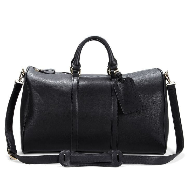 Black Leather Weekender