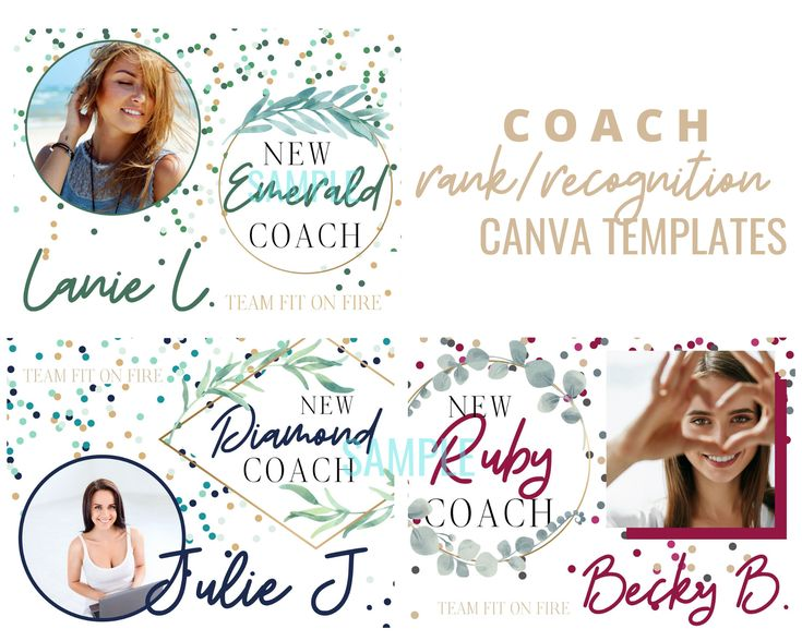Beachbody Coach Recognition Rank Templates for Canva New