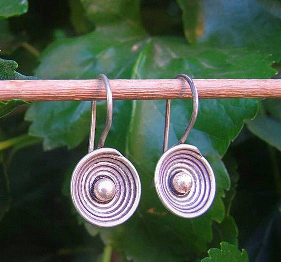 Silver earrins. Hill tribe silver earrings. Ethnic earrings.