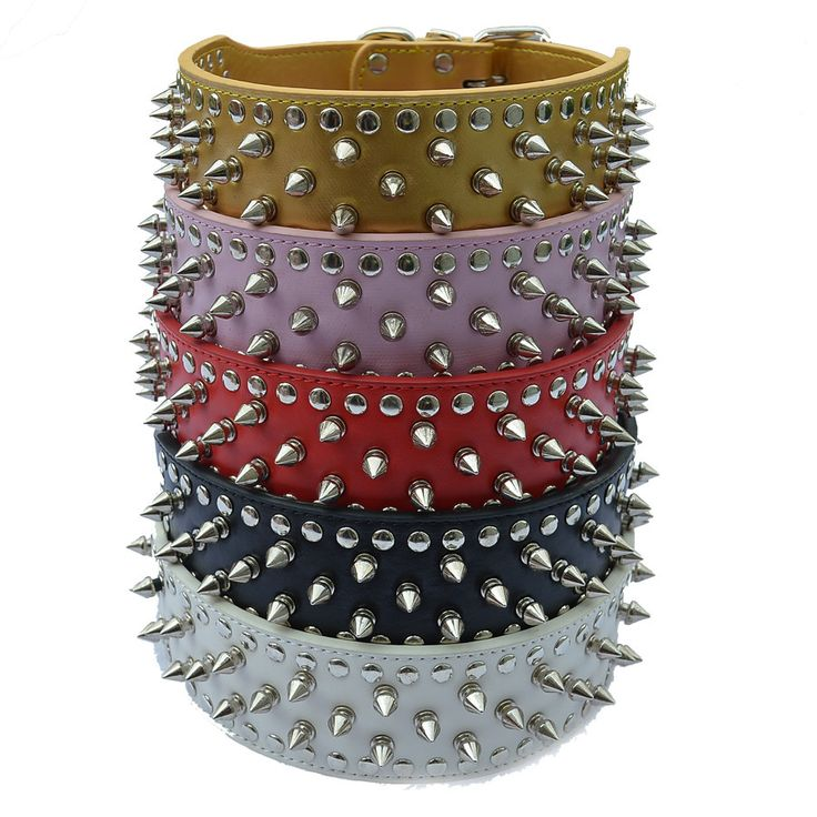 Personalized Pitbull Spiked Dog Collar 2 Inch Wide Pu Leather Collars For Dogs Large Pet Products Dog Health Supplies - Like this? click here:  http://www.dogcollarsshop.com/product/personalized-pitbull-spiked-dog-collar-2-inch-wide-pu-leather-collars-for-dogs-large-pet-products-dog-health-supplies/