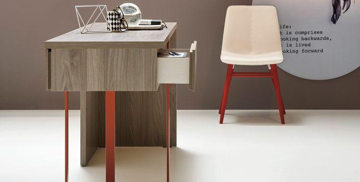 Desk, Tables and chairs, Products   Its a useful and unique desk solution. Design by #Novamobili. #home #decor #livingroom #italian #style #design #table #interiors #architettura #interni #arredo #materiali #furniture