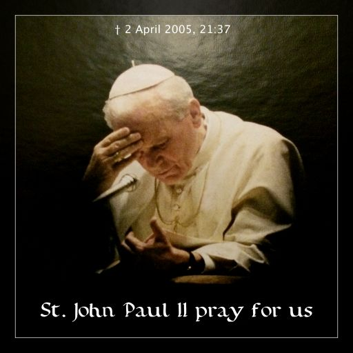 21:37, April 2, 2005; St. John Paul II, we love You. Pray for us! #JP2