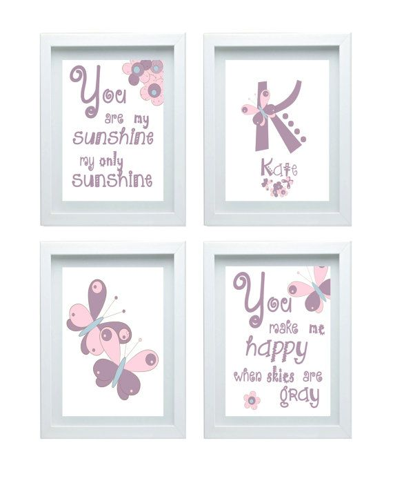 Butterfly Nursery Decor Quote You Are My by FMDesignStudio on Etsy, $45.00
