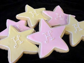 Monogramming a cookie is an easy way to make a plain design look special