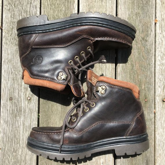 Vintage 90's Timberland Gore Tex Chocolate Leather Women's Size 7.5W Boots Streetwear Hiking Gear Expedition Outdoors Timberland Active Boot