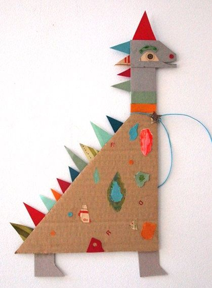 Paper Dinosaurs #kids #crafts #diy