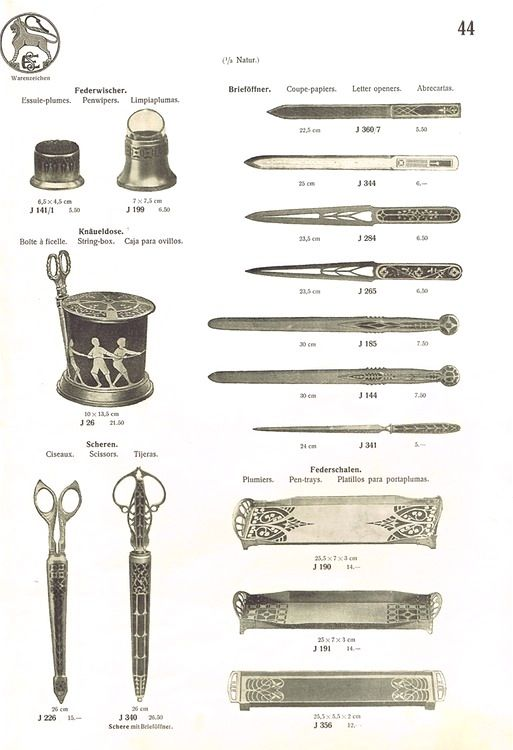 page from Erhard & Söhne's 1905 catalogue: