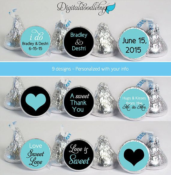 Personalized stickers will add a special touch to your wedding! Just peel and stick! 0.75 is the right size for the bottom of mini size candies.
