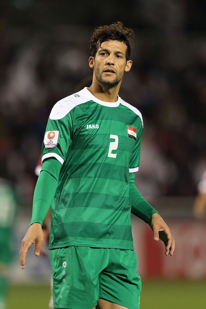 Saad Natiq Naji of Iraq during the AFC U-23 Championship 3rd/4th...   Iraq, Match, Football players
