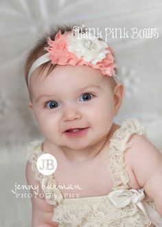 Niña de la venda venda del recién nacido bebé por ThinkPinkBows