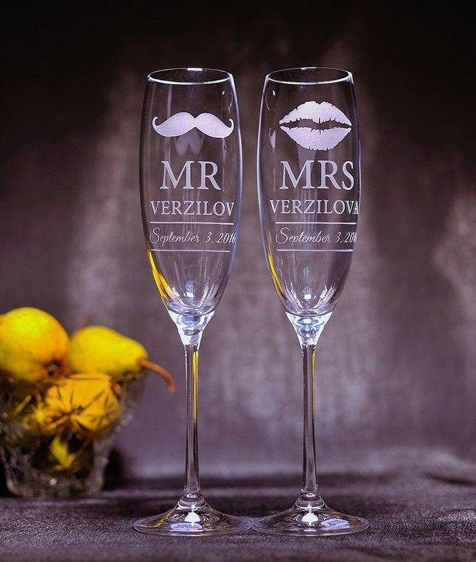 свадьба бокалы гравировка
