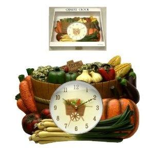 "An Interesting Kitchen Vegetable Barrel ""Farm Fresh"" Clock"