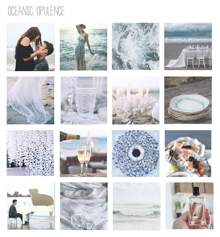 Oceanic Opulence was designed by Julia as part of a wedding planning & design assignment.  This board is stunning and communicates Julia's vision for this wedding beautifully.