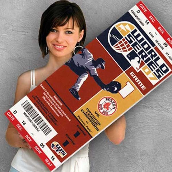 Boston Red Sox 2007 World Series Canvas Mega Ticket - $79.99