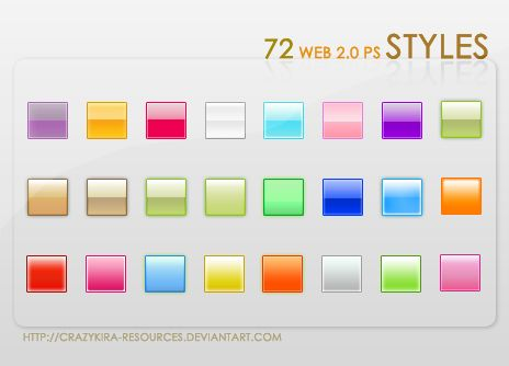 Web 2.0 Styles by crazykira-resources