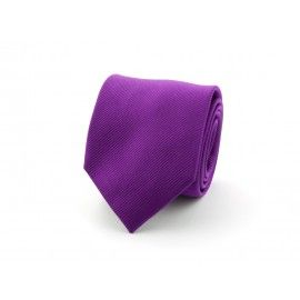 Prachtige zijde donker paars stropdas 9100728A