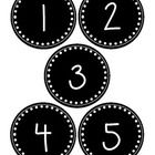 Black and white number labels for numbers 1-30. Great for classroom organization!