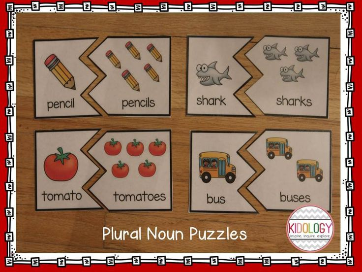 Plural Noun Activities! Focus on s and es endings.  Great for literacy centers or workstations! $