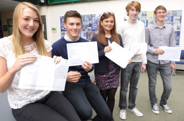 Collette Bunce, Joseph Wenden, Arabella Watkins, Will Pryke and Matthew Owen are a few of the top scoring A Level students at Colchester Sixth Form College on Thursday, 14 August.