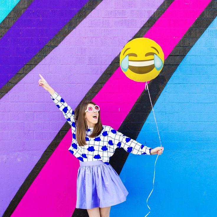 Mylar Cry Laughing Emoji Balloon at Studio DIY