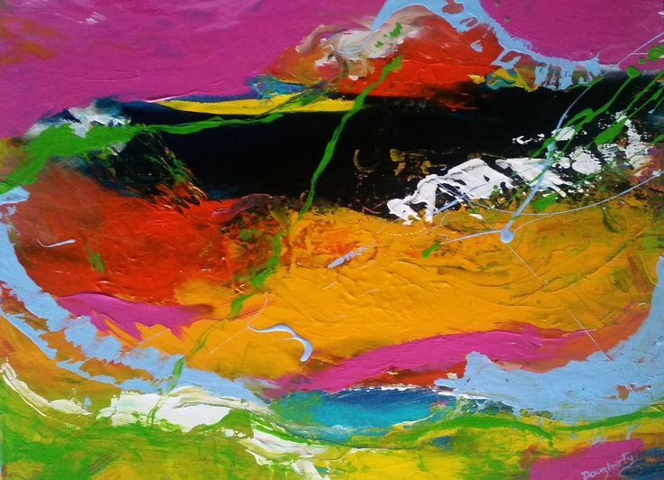 """Tropical Splash  2"" by Debra Dougherty. Paintings for Sale. Bluethumb - Online Art Gallery"