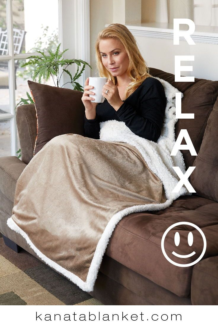 Relax with our super snuggly Challenger faux lambswool throw. For more, follow us @kanatablanket