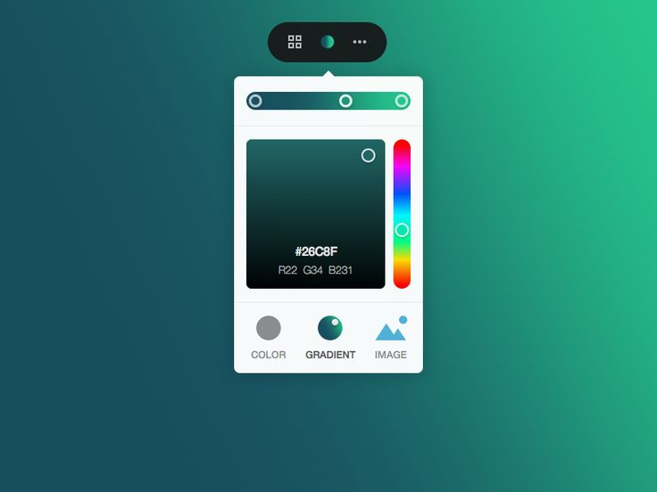 Qards Gradient Widget by Vladimir Kudinov for Designmodo