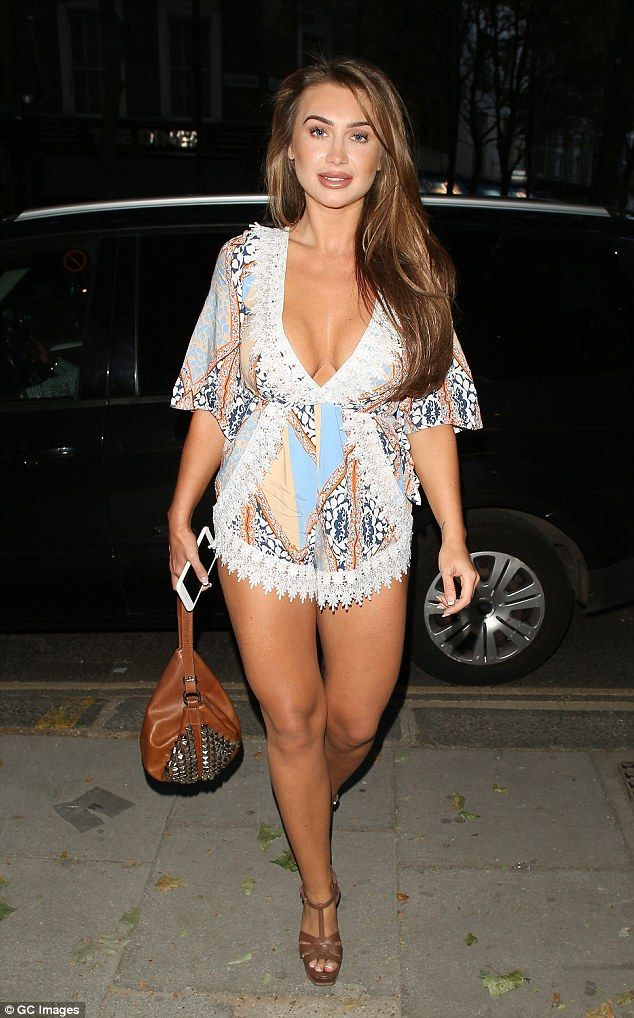 More slender than ever: Lauren Goodger looked ultra-slender as she stepped out in London on Tuesday night