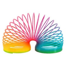 80s Party Decoration - Rainbow Slinky - Makes Great Table Decoration