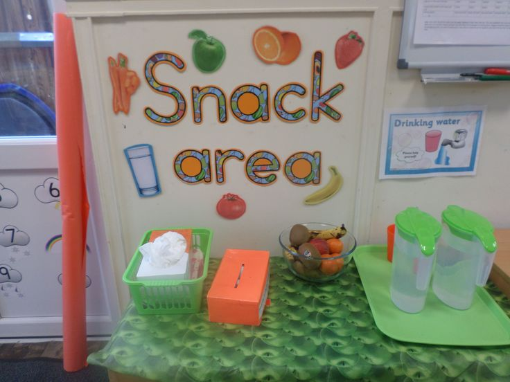Snack Area at Nursery