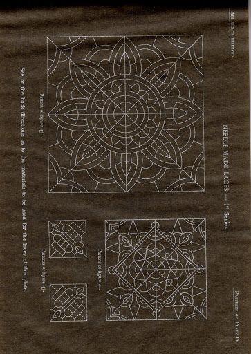 DMC Library Needle-Made Laces - eva lon - Picasa Web Album...many folders of needle, Romanian and bobbin lace patterns and history.....