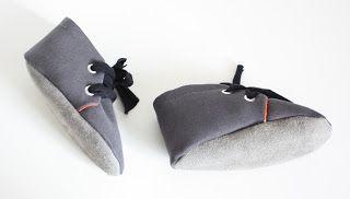 hippe handgemaakte grijze baby schoentjes met suede zool