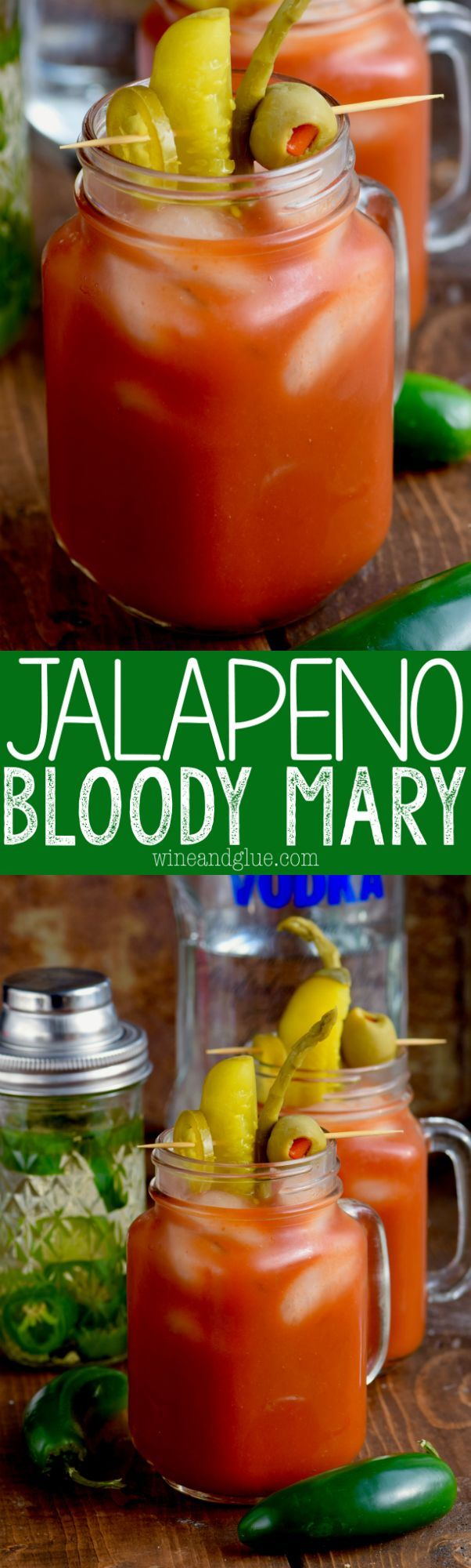 Jalapeño Infused Bloody Mary   The delicious smoky flavor of jalapeños in vodka makes this bloody mary recipe a must make for any brunch!