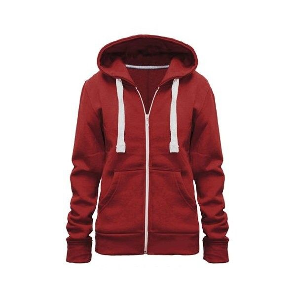 Ladies Girl WomensNEW PLUS SIZE Zip Up Sweatshirt Hooded Hoodie Coat... ($2.87) ❤ liked on Polyvore featuring tops, hoodies, plus size zip up hoodie, red hooded sweatshirt, women plus size tops, red zip up hoodie and hooded pullover