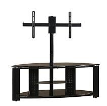 2-Shelf Corner Flat Panel TV Stnd w/Post & Bracket