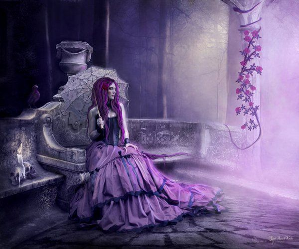 """""""Gothic angel"""" is a form of art, music, poems, fashion and even a state of mind. It`s a term that also helps the Gothic people to show their soft side..."""